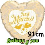 Just married Folienballon - 91cm