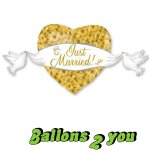 Just Married Folienballon - 104cm
