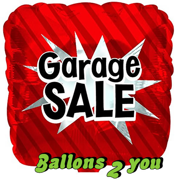 Folienballon Garagen Sale