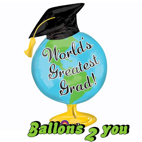 Folienballon Greatest Grad Globus