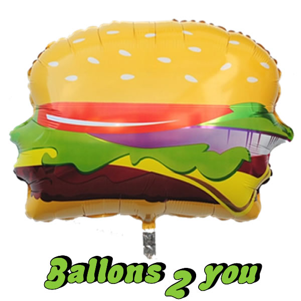 Folienballon Hamburger