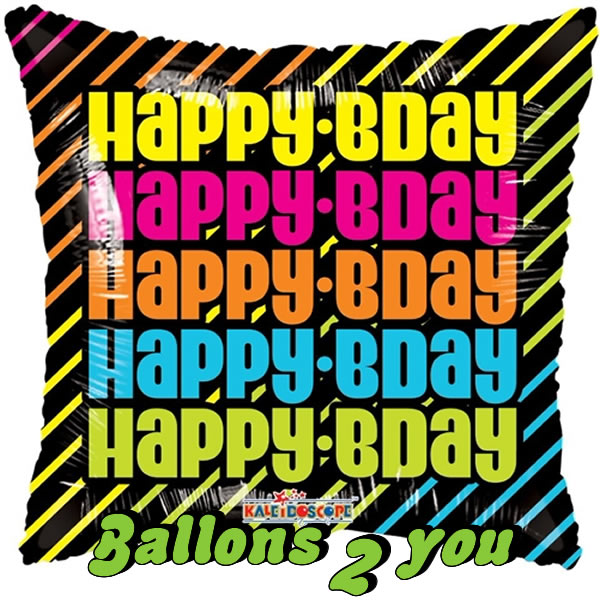 Folienballon Happy B-day