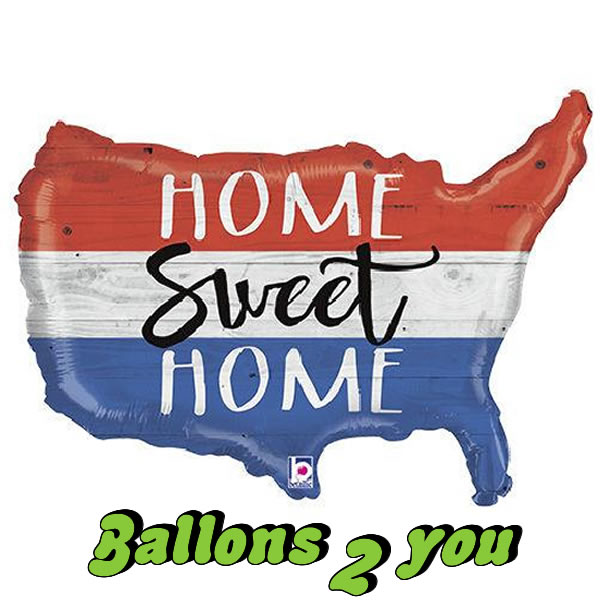 Folienballon Home Sweet Home