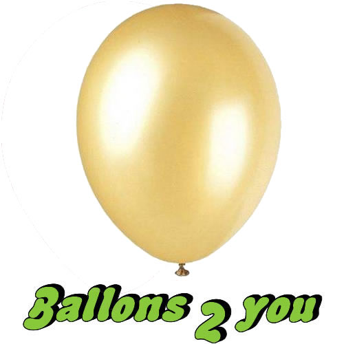 Latex Luftballon gold 30 cm Ø