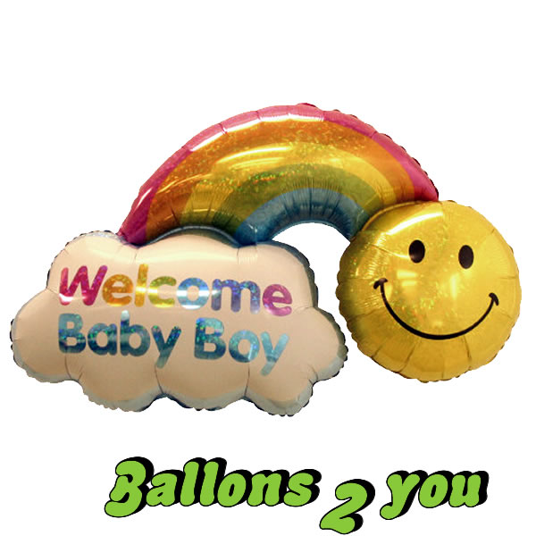 Folienballon Regenbogen Boy