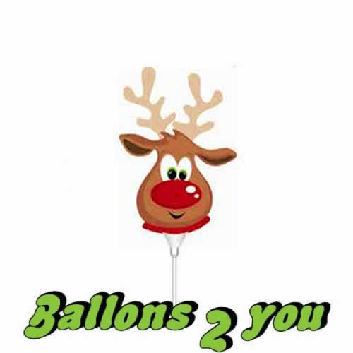 Mini Folienballon Rudolf