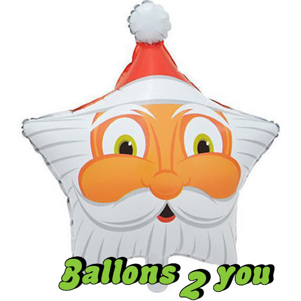 Folienballon Santa Face