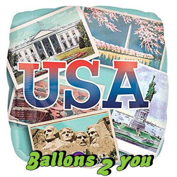 Folienballon USA Postkarten