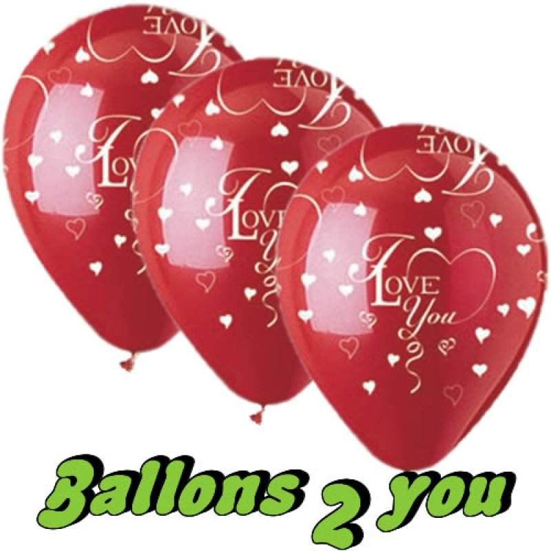 I love you Luftballon mit Herzen