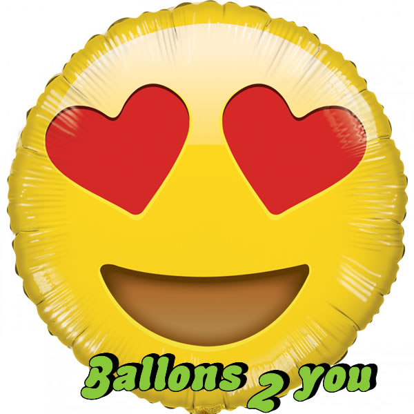 Folienballon Emotions Smiley
